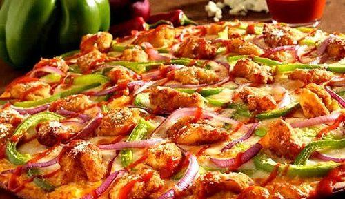 Пицца с грибами и курицей в аэрогриле