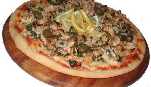 Пицца с морепродуктами в аэрогриле