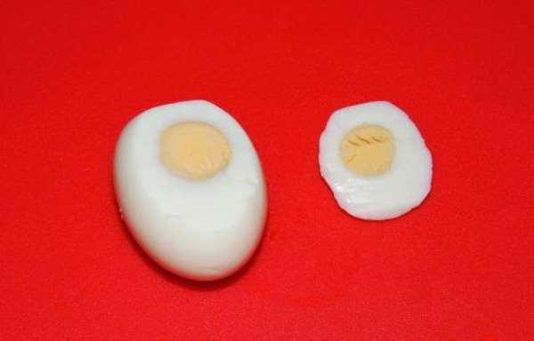 срезать часть яйца