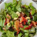 салат из сушеных помидоров с кешью