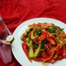 Салат с огурцами по корейски