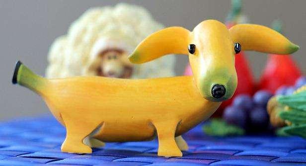 собачка из банана