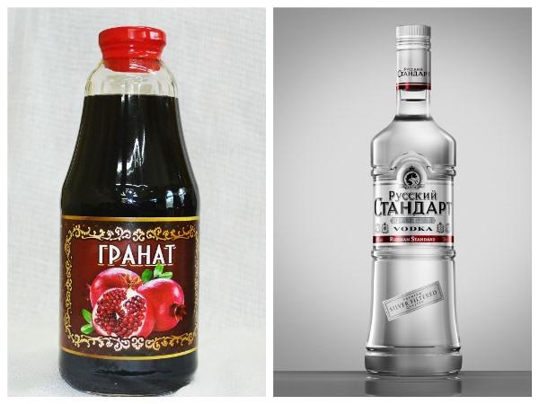 водка и гранатовый сок