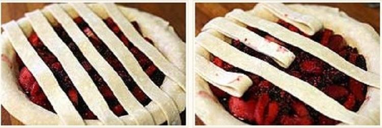 Как сделать плетение на пироге
