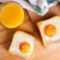 Горячие бутерброды с яйцом в духовке
