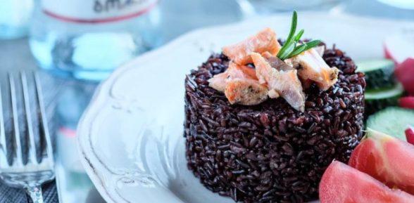 Черный рис на гарнир