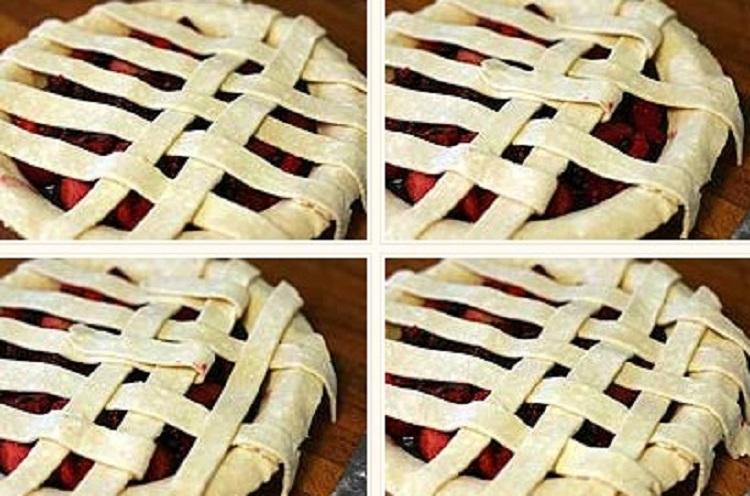 Плетение на сладкой выпечке