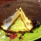 Бананово-творожнй чизкейк с шоколадной глазурью