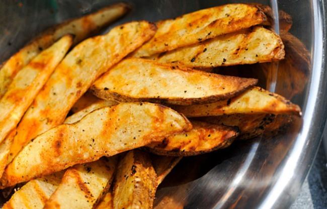 готовый картофель гриль