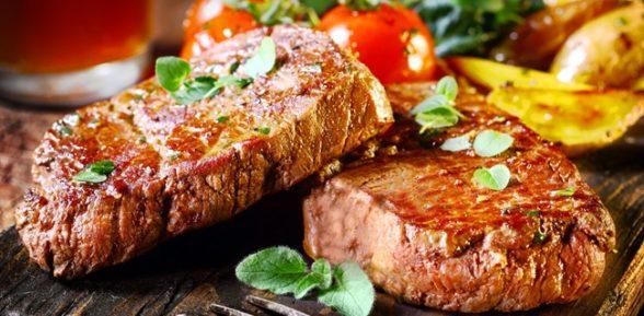 Мясо гриль в микроволновке