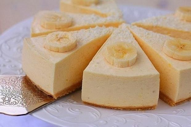 Бананово-творожный чизкейк из печенья