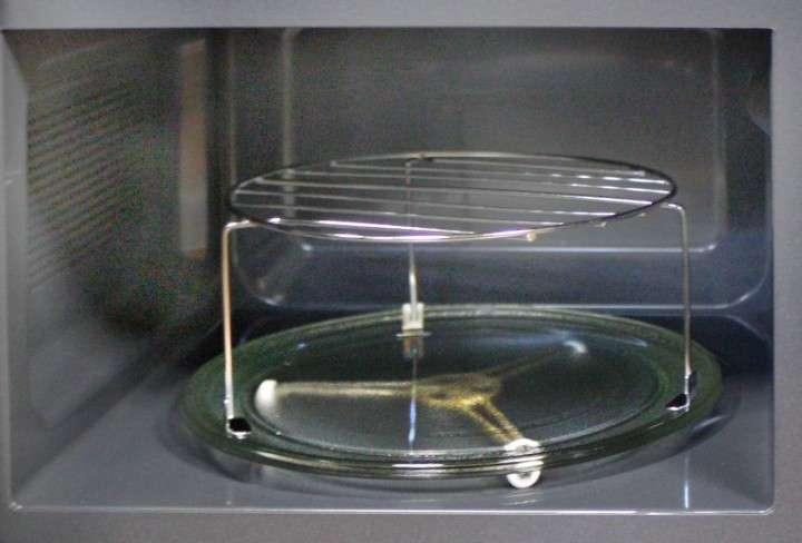 решетка гриль в микроволновке