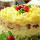 Слоеный салат с сыром,