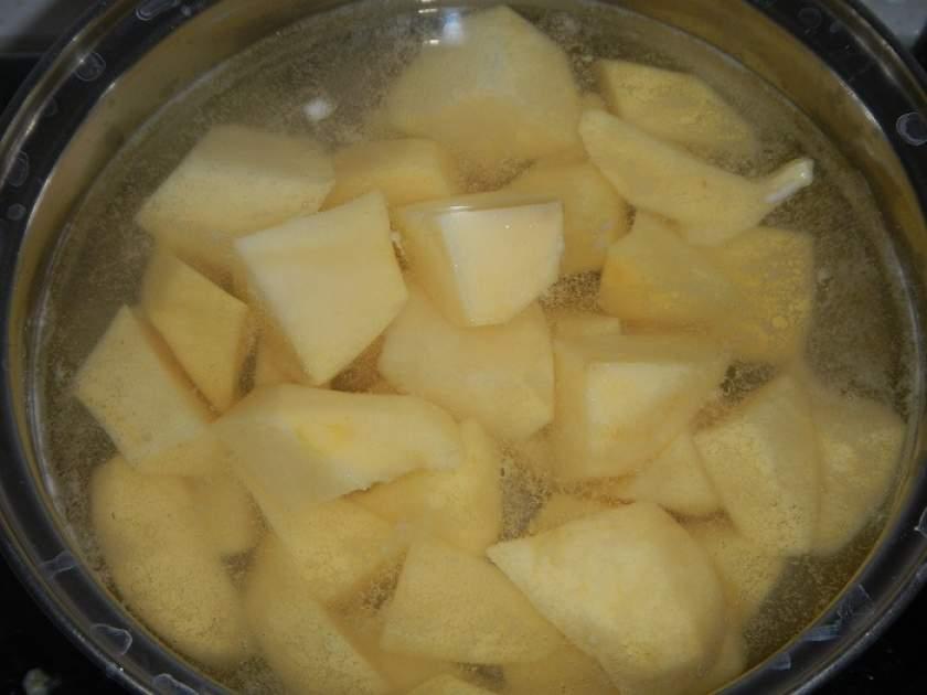 Приготовление картофельного крем-супа
