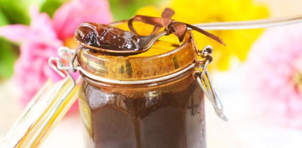 Шоколадное варенье из персиков