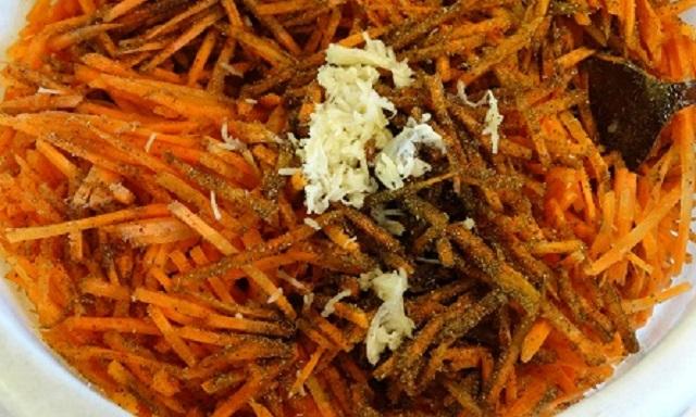 Приготовление моркови по-корейски