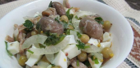 Закусочный салат с грибами