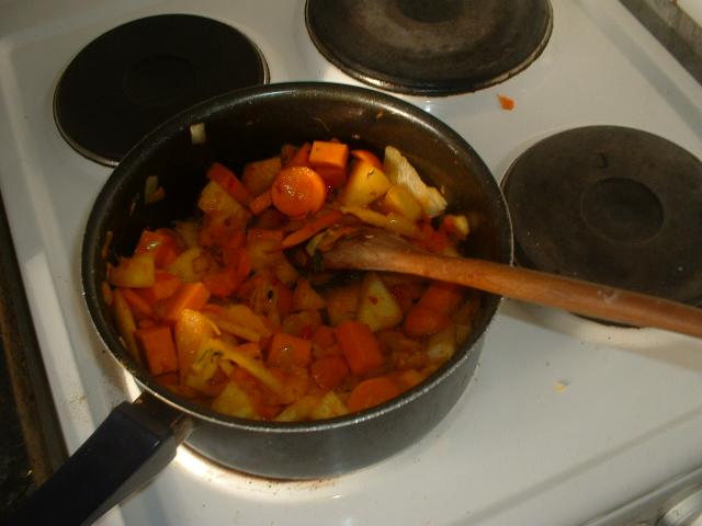 Приготовление супа из тыквы и кабачка