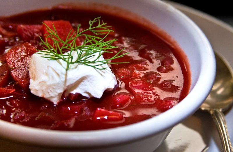 Рецепт вкусного борща с фасолью