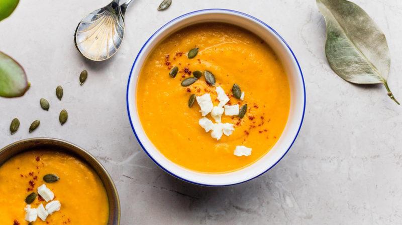 Суп-пюре из тыквы по тайски
