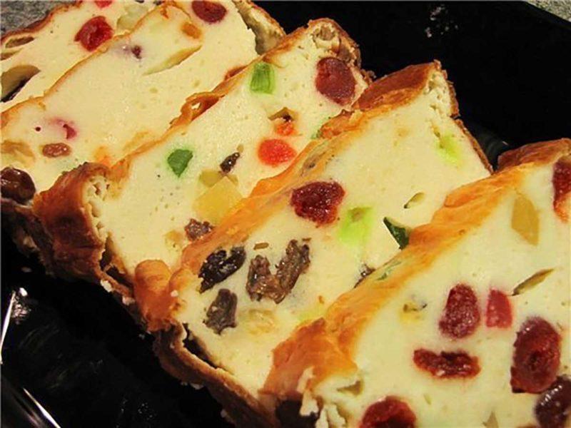 Творожный кекс с цукатами и сухофруктами