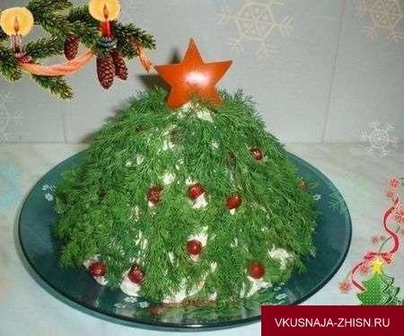 салат в форме елки