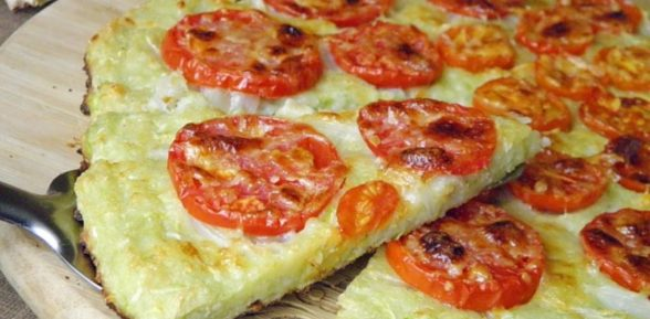 Пицца с кабачковым тестом