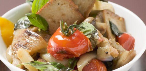 Жареные овощи с тофу