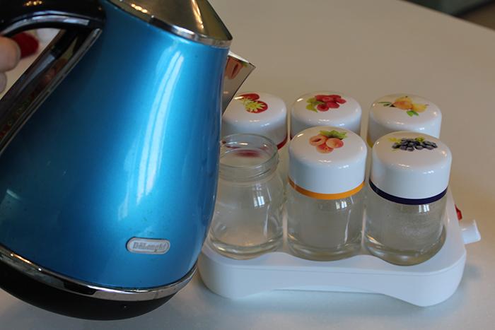 Стерилизуем баночки для йогурта