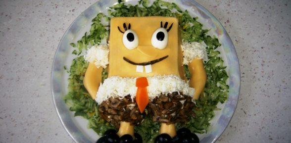 Салат «Спанч Боб»