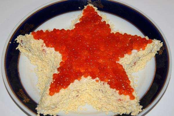салат в форме звезды