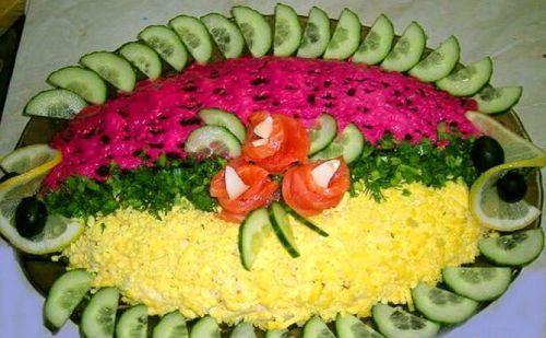 украшение овощами