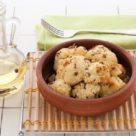 Цветная капуста, запеченная в духовке с горчицей и карри