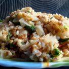 Гречневая каша с овощами и пшеницей