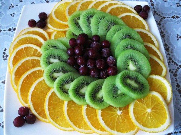 фруктовая нарезка в виде сердца