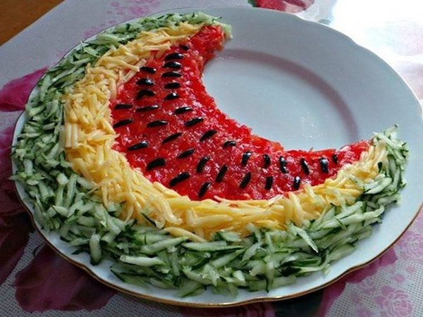 готовый салат арбузная долька