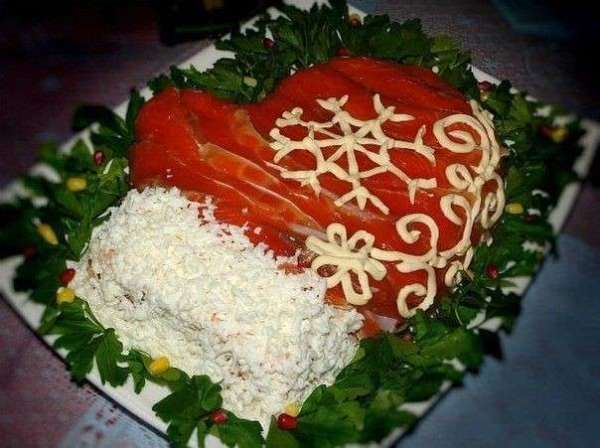 готовый салат рукавичка