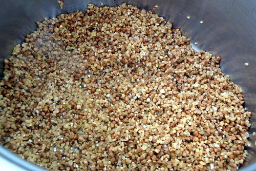 Приготовление пшенично-гречневой каши