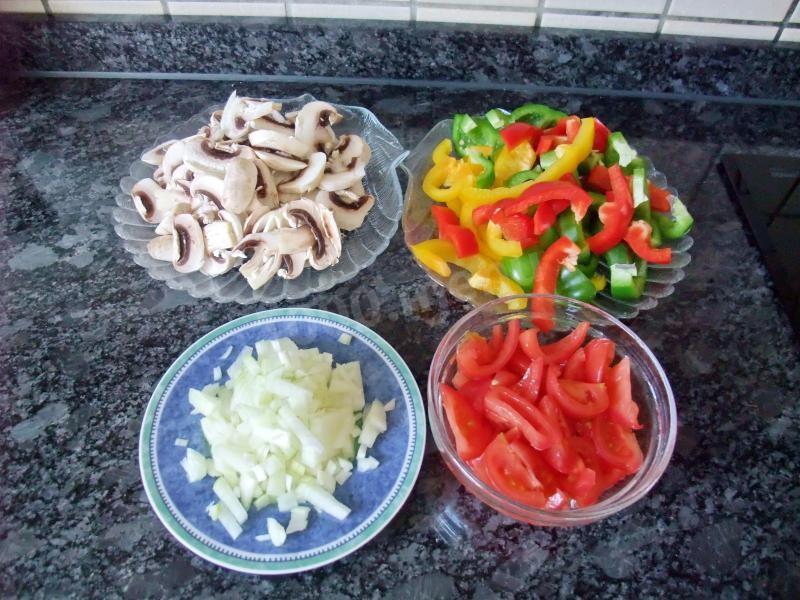 Грибная подливка с овощами