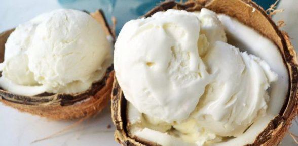 Натуральное кокосовое мороженое