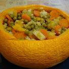 Тыква, запеченная с овощами в духовке