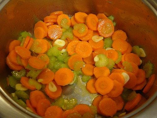 Приготовление рагу из овощей