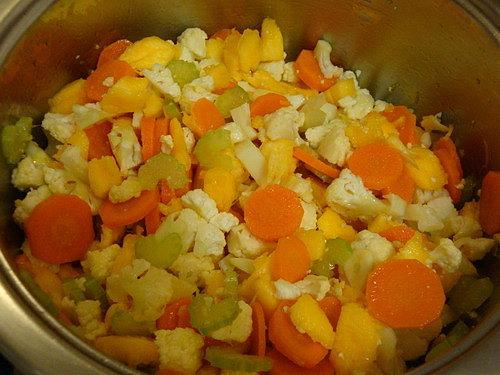 Овощное рагу из тыквы и цветной капусты