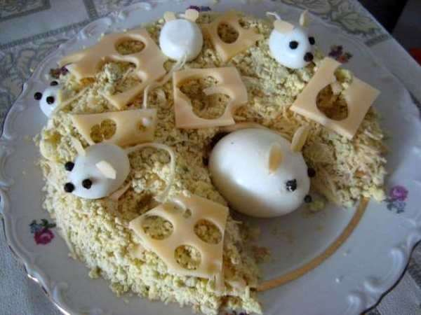печеночный салат Мышки