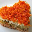 салат морковное сердце