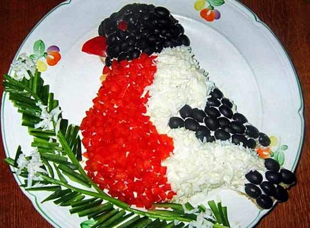 готовый салат снегирь