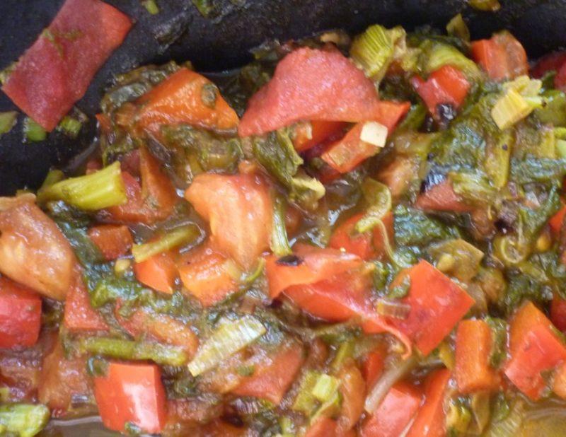 Приготовление кабачков с овощами (по-гречески)