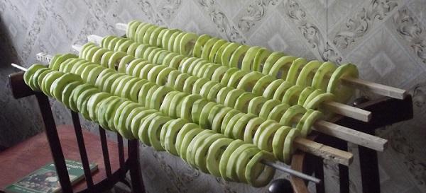 Сушение кабачков