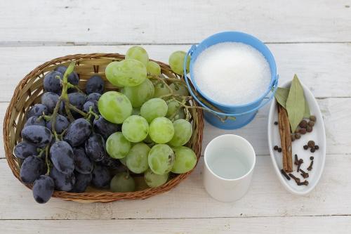 Маринуем виноград 2 сортов