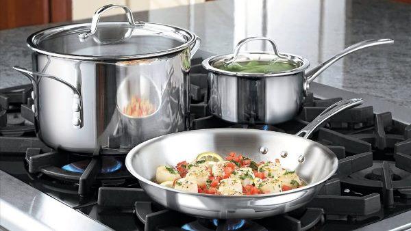 приготовление пищи в посуде из нержавейки